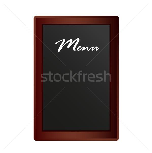 Restaurant menu schoolbord geïsoleerd witte achtergrond Stockfoto © Natashasha