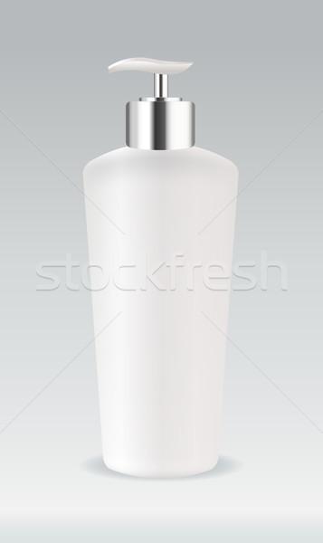 косметических контейнера бутылку изолированный цветок тело Сток-фото © Natashasha