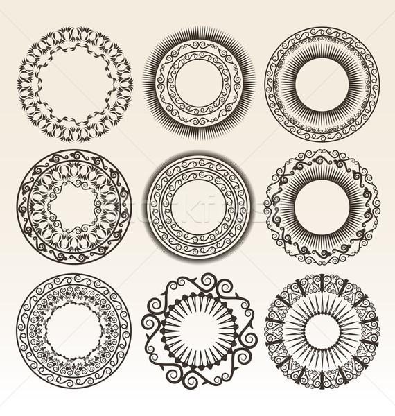 装飾的な サークル 図書 葉 ヴィンテージ ストックフォト © Natashasha