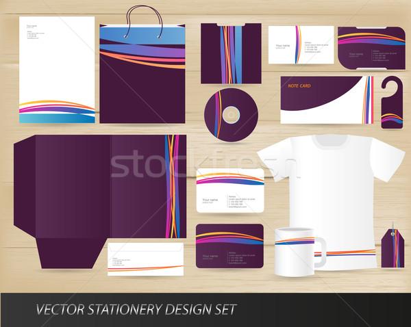Wektora materiały biurowe projektu zestaw odizolowany Zdjęcia stock © Natashasha