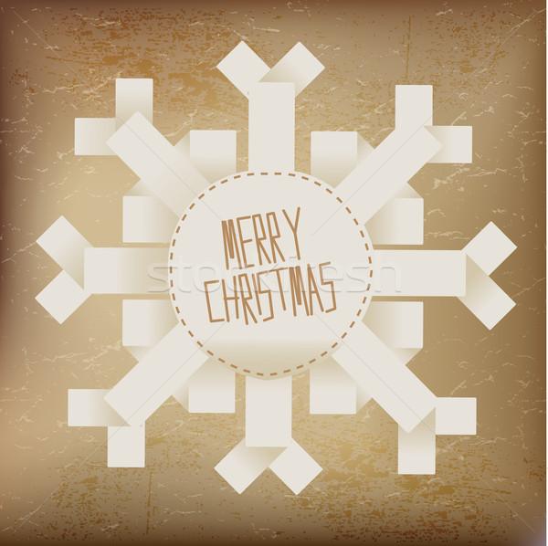 веселый Рождества снежинка аннотация свет дизайна Сток-фото © Natashasha