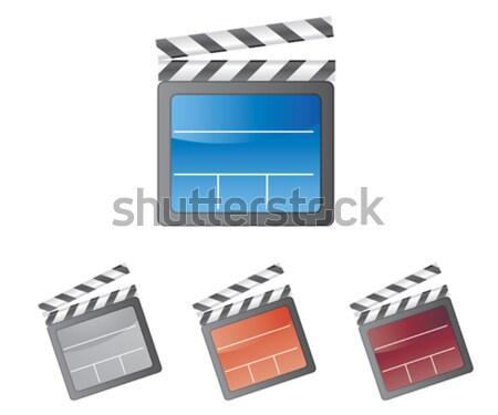 красочный фильма изолированный белый фон кино Сток-фото © Natashasha