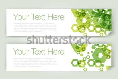 Abstract banners geïsoleerd textuur web groene Stockfoto © Natashasha