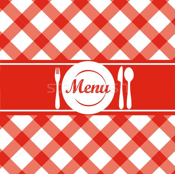 Restauracji menu czerwony kuchnia tablicy Zdjęcia stock © Natashasha