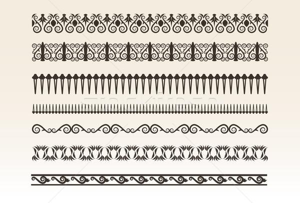 装飾的な 孤立した デザイン 絵画 パターン ストックフォト © Natashasha