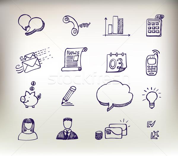 Stock photo: Sketchy doodle icon set