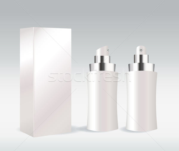 White cosmetic container for face cream, gel, serum or foundation Stock photo © Natashasha