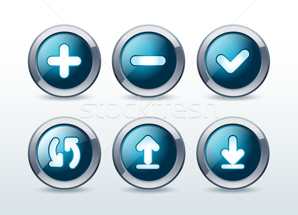 Web boutons isolé bouton étiquette Photo stock © Natashasha