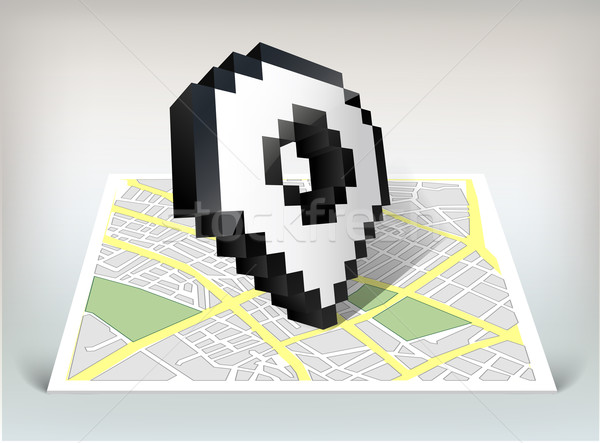 City map with pointer cursor icon vector illustration Stock photo © Natashasha