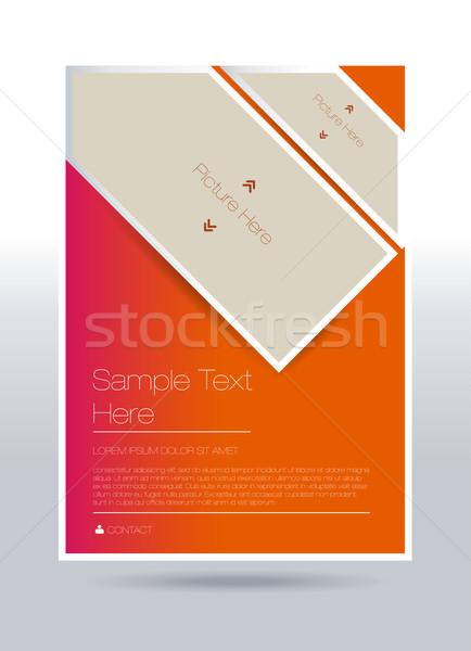Vector flyer ontwerp communie papier abstract Stockfoto © Natashasha