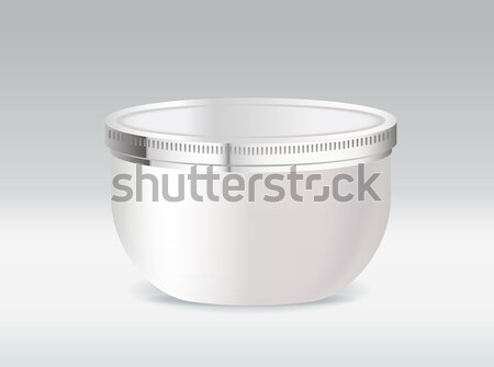 Cosmetic container for body cream or hair gel Stock photo © Natashasha
