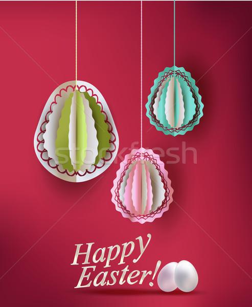 Paaseieren decoratie Pasen natuur ei achtergrond Stockfoto © Natashasha
