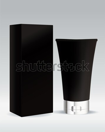Cosmetic tube in black color for cream or gel Stock photo © Natashasha