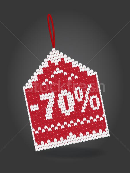 процент скидка цен тег изолированный Сток-фото © Natashasha