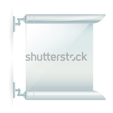 Stock fotó: Modern · hirdetés · fal · keret · izolált · terv