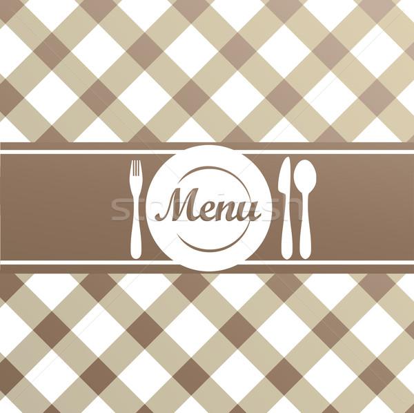 レストラン メニュー ブラウン 抽象的な デザイン ストックフォト © Natashasha