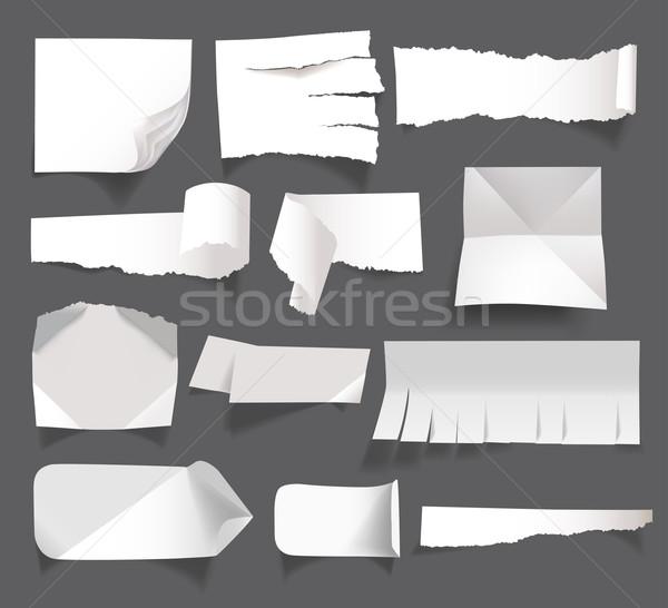 Beyaz boş kağıt yalıtılmış kitap gazete Stok fotoğraf © Natashasha