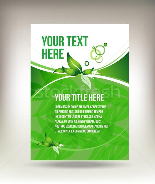 Vert flyer design fond affaires r sum for Flyer espace vert