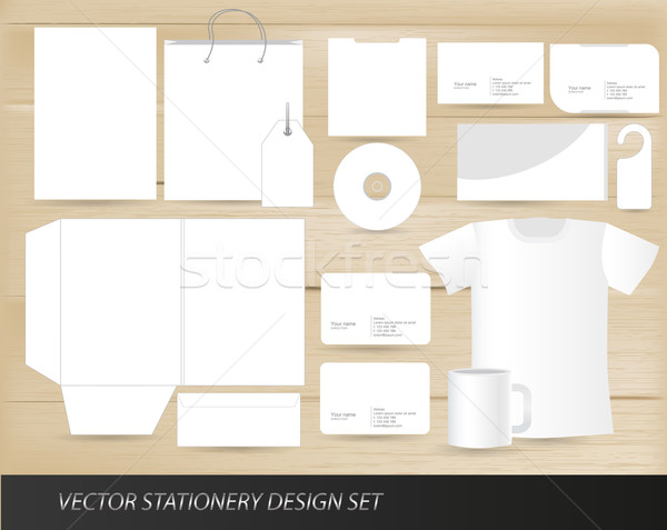 Vector stationery design set template Stock photo © Natashasha