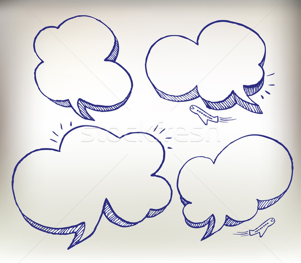Sketch doodle speech cloud  Stock photo © Natashasha