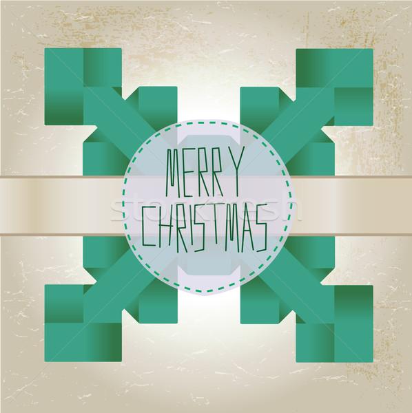 折り紙 スノーフレーク 陽気な クリスマス 文字 紙 ストックフォト © Natashasha