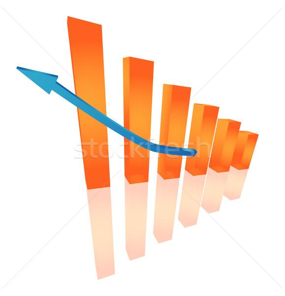 Three dimensional orange chart Stock photo © Natashasha