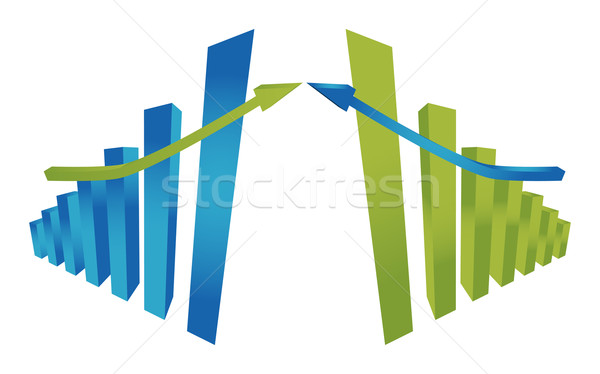 Colorful three dimensional chart Stock photo © Natashasha