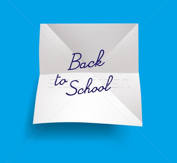 Terug naar school sticker school najaar markt leren Stockfoto © Natashasha