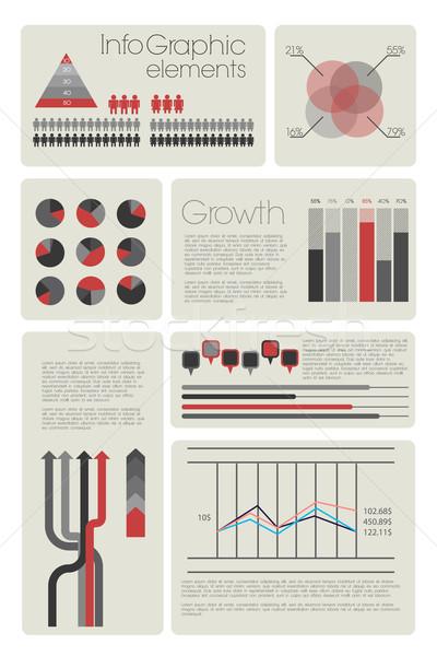 現代 インフォグラフィック 地球 にログイン ネットワーク カレンダー ストックフォト © Natashasha