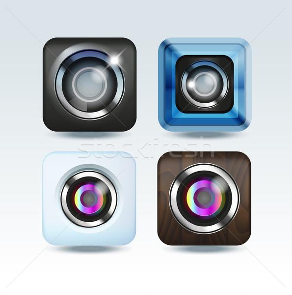 Camera foto app geïsoleerd business Stockfoto © Natashasha