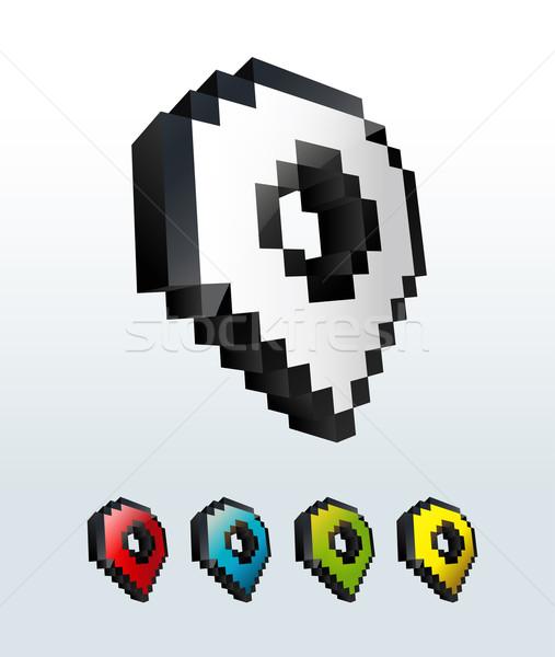Zestaw kursor Pokaż ikona przyciski odizolowany Zdjęcia stock © Natashasha