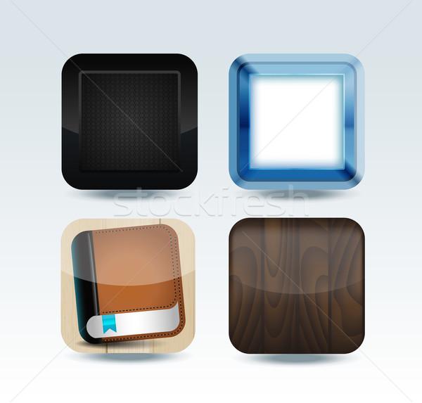 現代 カラフル アプリ 孤立した テクスチャ ストックフォト © Natashasha