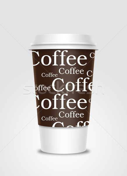 чашку кофе Label изолированный кофе пластиковых Recycle Сток-фото © Natashasha