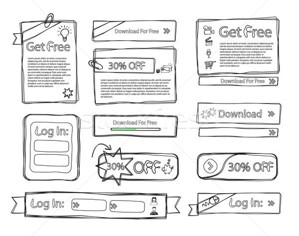 sketchy web set doodle Stock photo © Natashasha
