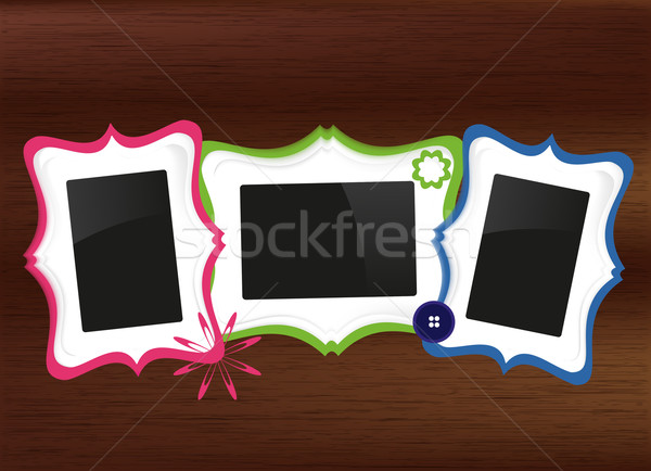 scrapbook photo frames set Stock photo © Natashasha