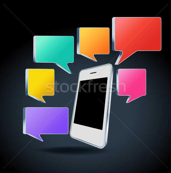 мобильного телефона красочный изолированный бизнеса телефон Сток-фото © Natashasha
