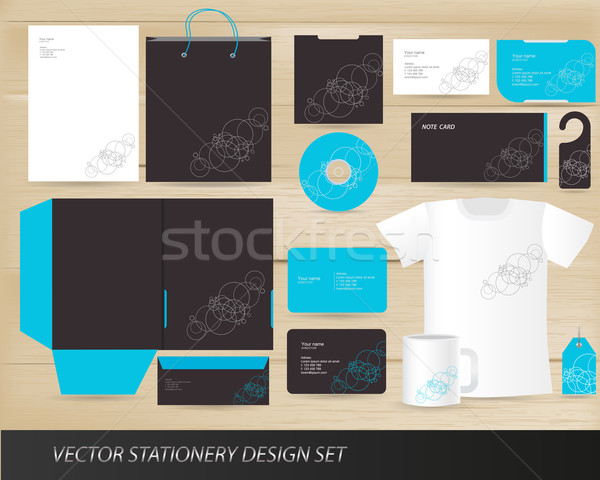 Vector stationery design set Stock photo © Natashasha