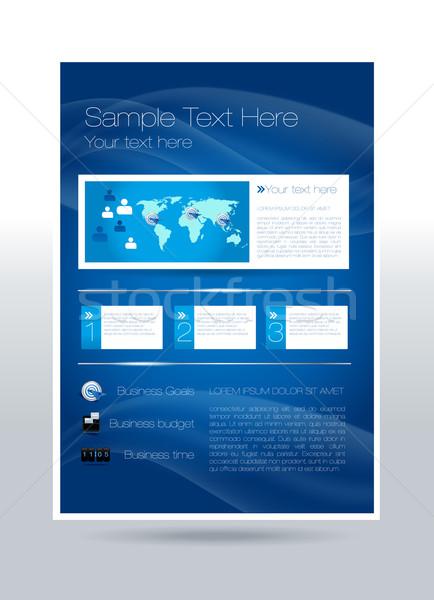Business flyer ontwerp communie papier internet Stockfoto © Natashasha
