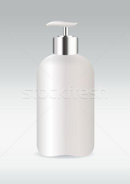 белый косметических бутылку изолированный лице тело Сток-фото © Natashasha
