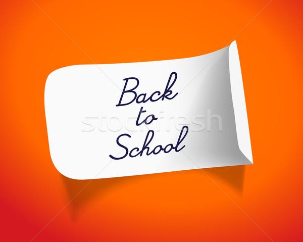 Terug naar school bericht school kinderen student schrijven Stockfoto © Natashasha