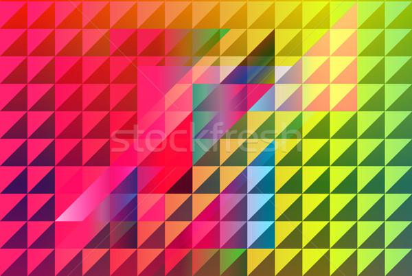 Streszczenie geometryczny elementy projektu ramki sztuki Zdjęcia stock © Natashasha