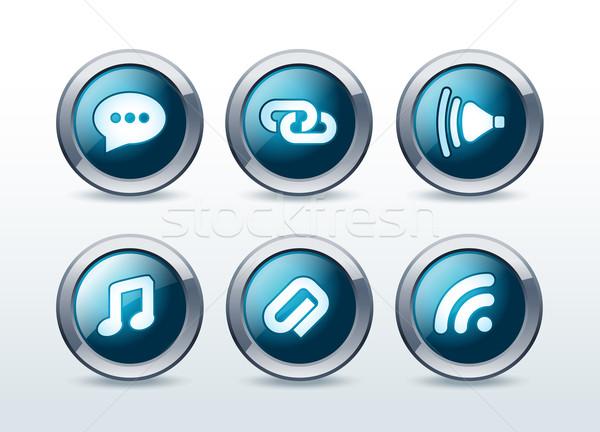Webボタン 孤立した 音楽 インターネット にログイン ストックフォト © Natashasha