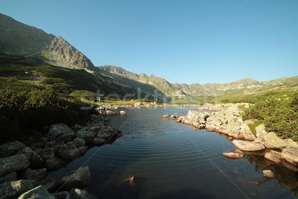 долины пять пруд воды облака трава Сток-фото © nature78