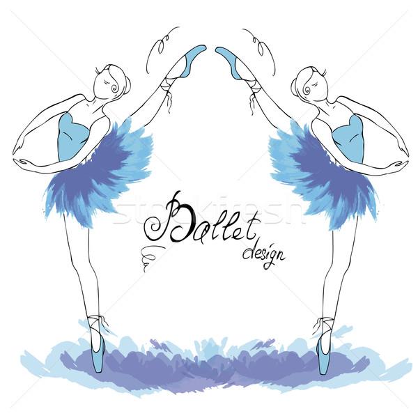商业照片 / 矢量图: 芭蕾舞演员 · 画 · 水彩画 · 风格 · 音乐