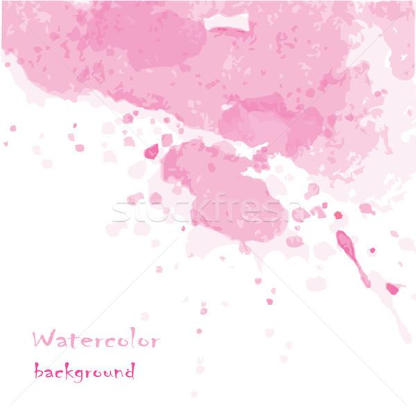 ベクトル 手描き 水彩画 デザイン 抽象的な テクスチャ ストックフォト © naum