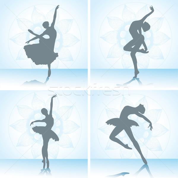 セット バレエ ダンサー シルエット スポーツ 美 ストックフォト © naum