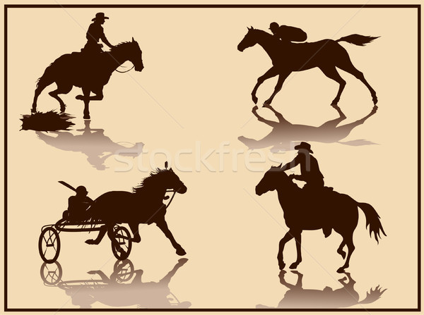 horse vector silhouette Stock photo © naum