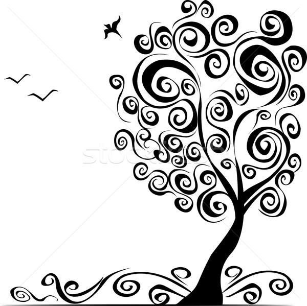 抽象的な ツリー 風景 庭園 背景 グループ ストックフォト © naum