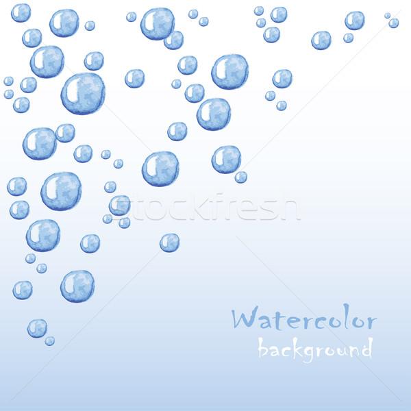 泡 美しい ベクトル 水 海 ストックフォト © naum