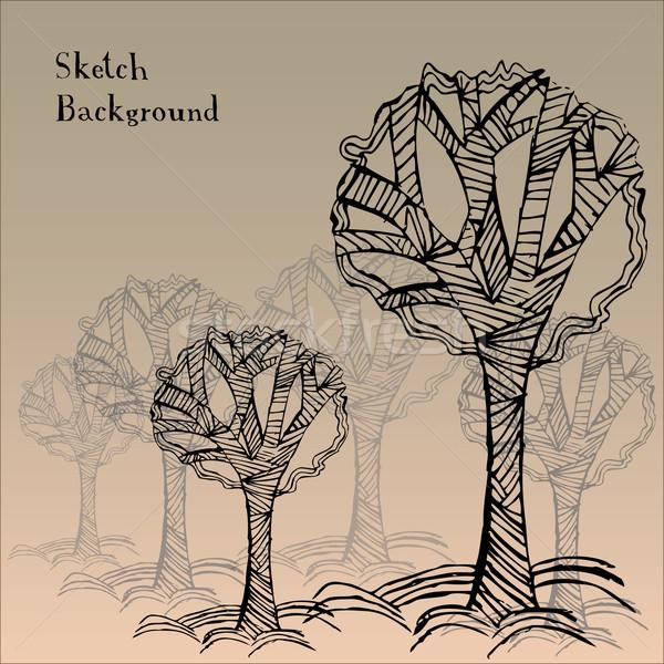 Foto stock: Resumen · árbol · jardín · fondo · grupo · otono